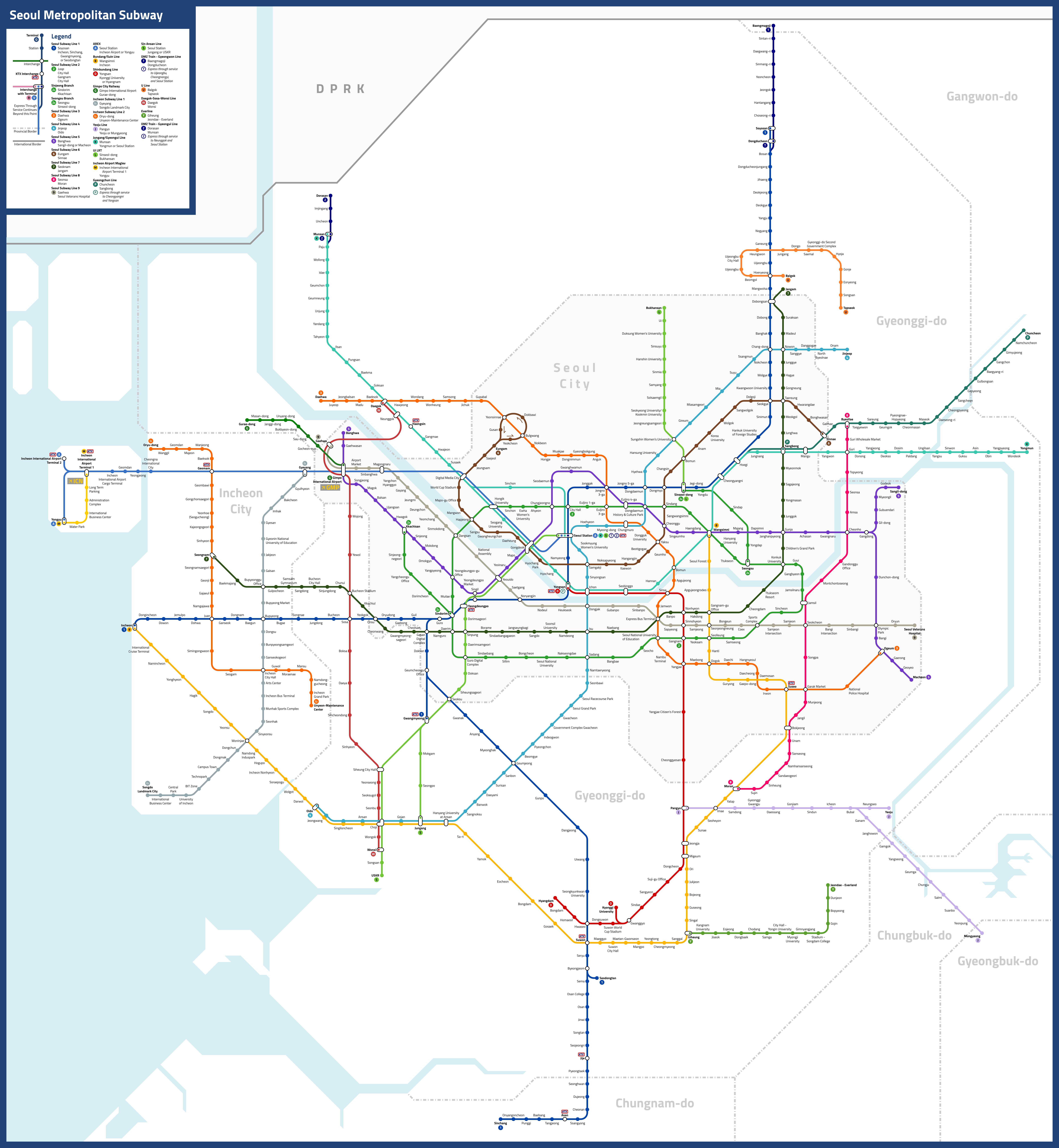 Everything you ever wanted to know about the Seoul Metro ... |Seoul Map 2020