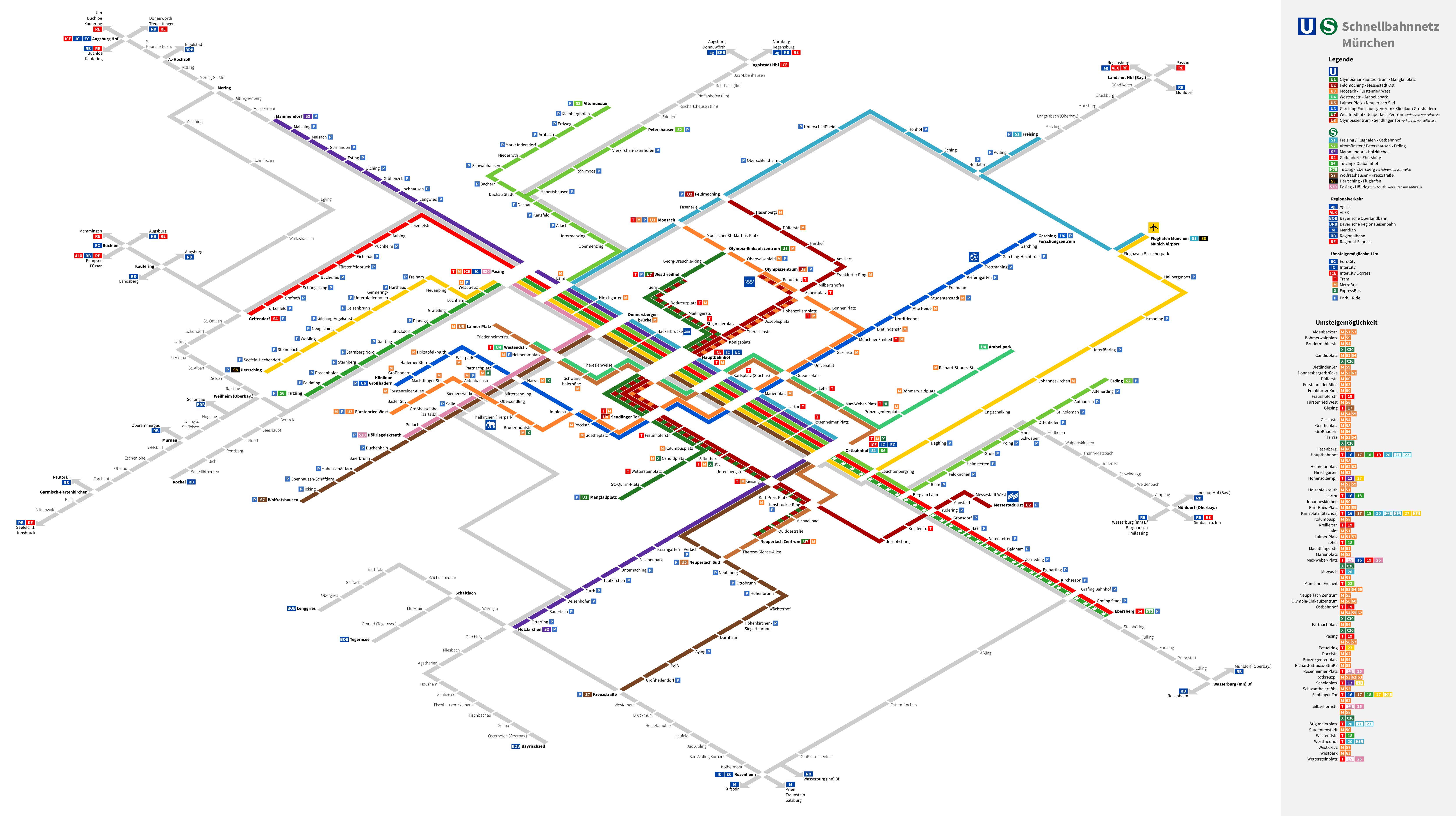 Munich Subway Map.Munich U Bahn S Bahn Isometric Map Theodore Ditsek