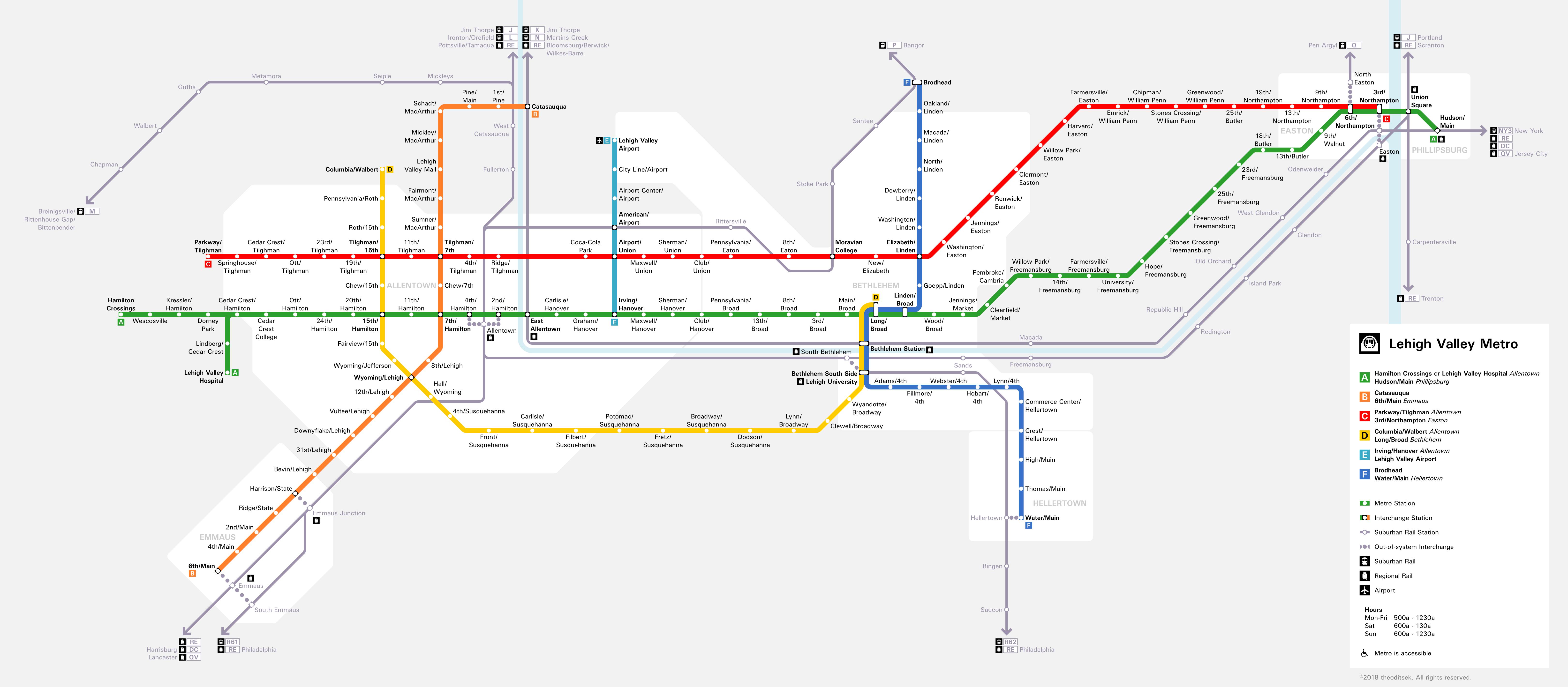 Valley Metro Map Lehigh Valley Metro | Theodore Ditsek