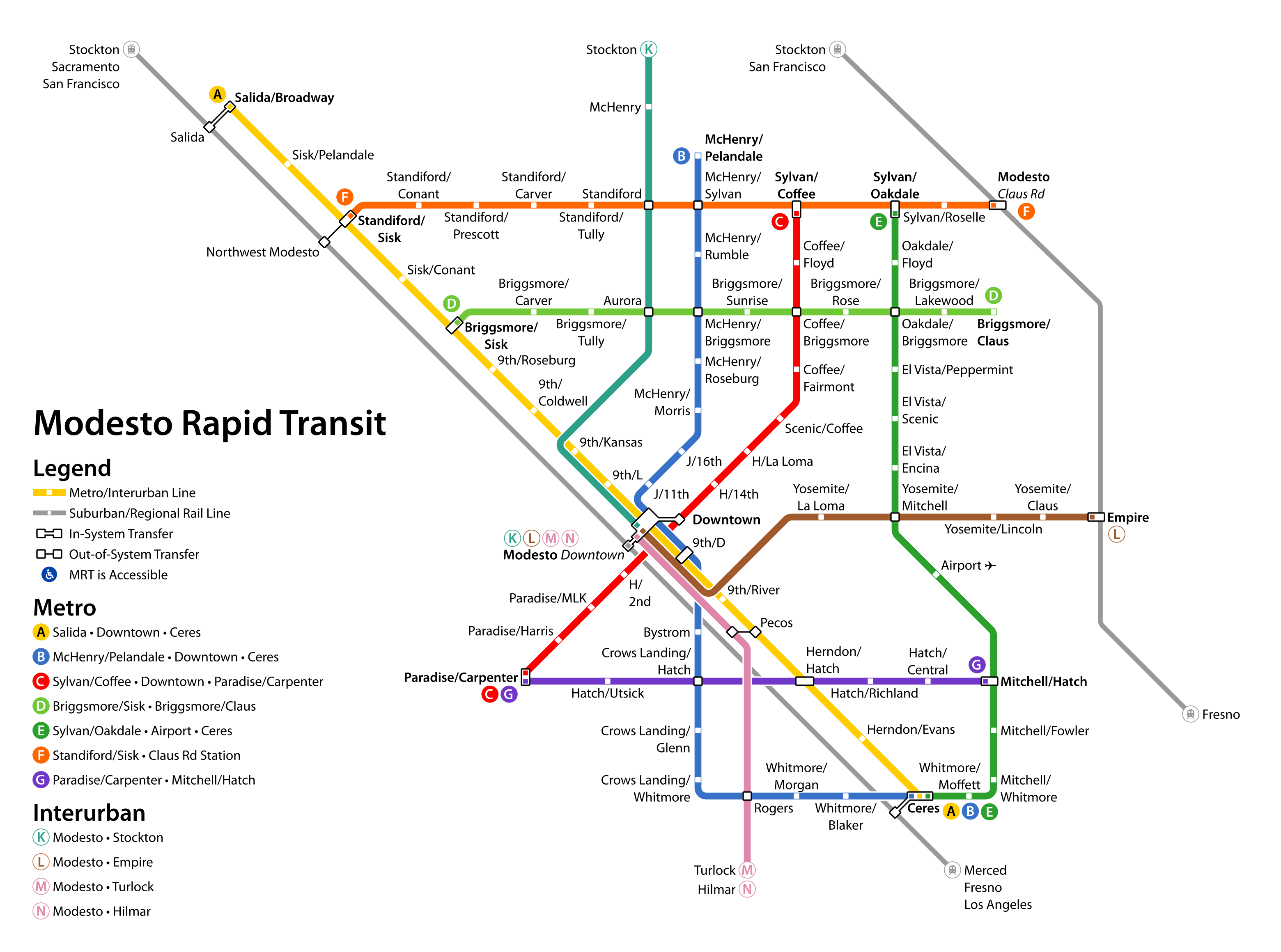 Modesto Rapid Transit | Theodore Ditsek on map of pinole, map of twain harte, map of mcclellan, map of pt hueneme, map of don pedro, map of copperopolis, map of orosi, map of thousand palms, map of long beach city, map of altamont pass, map of turlock lake, map of la harbor, map of white city, map of carlinville, map of sf civic center, map of marin city, map of cucamonga, map of girard, map of markleeville, map of stockton,