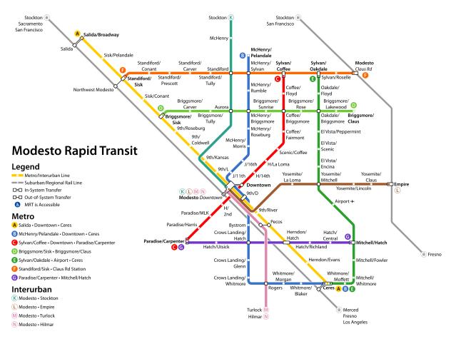 modesto rapid transit