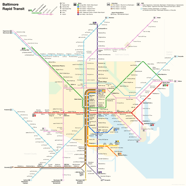 baltimore metro map 2