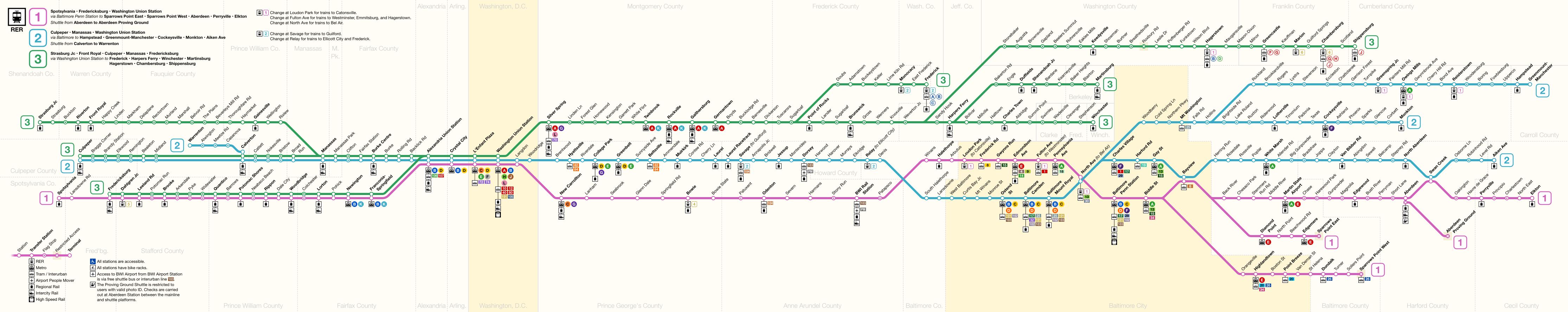 washington union station rer strip map